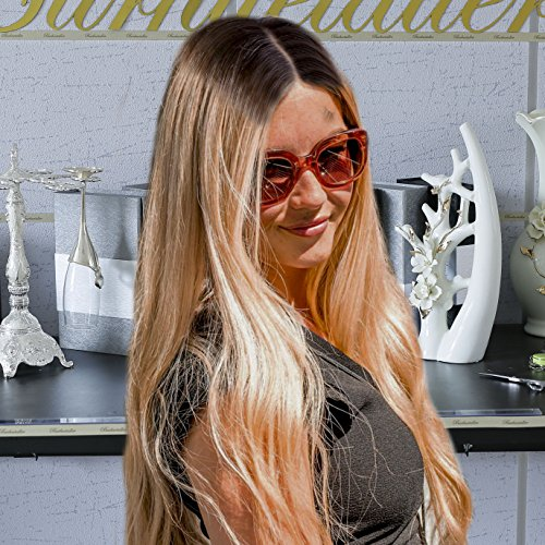 2T Ombre Gold Blonde Iron Rolled Wavy Human Hair Lace Front Wigs For Women -