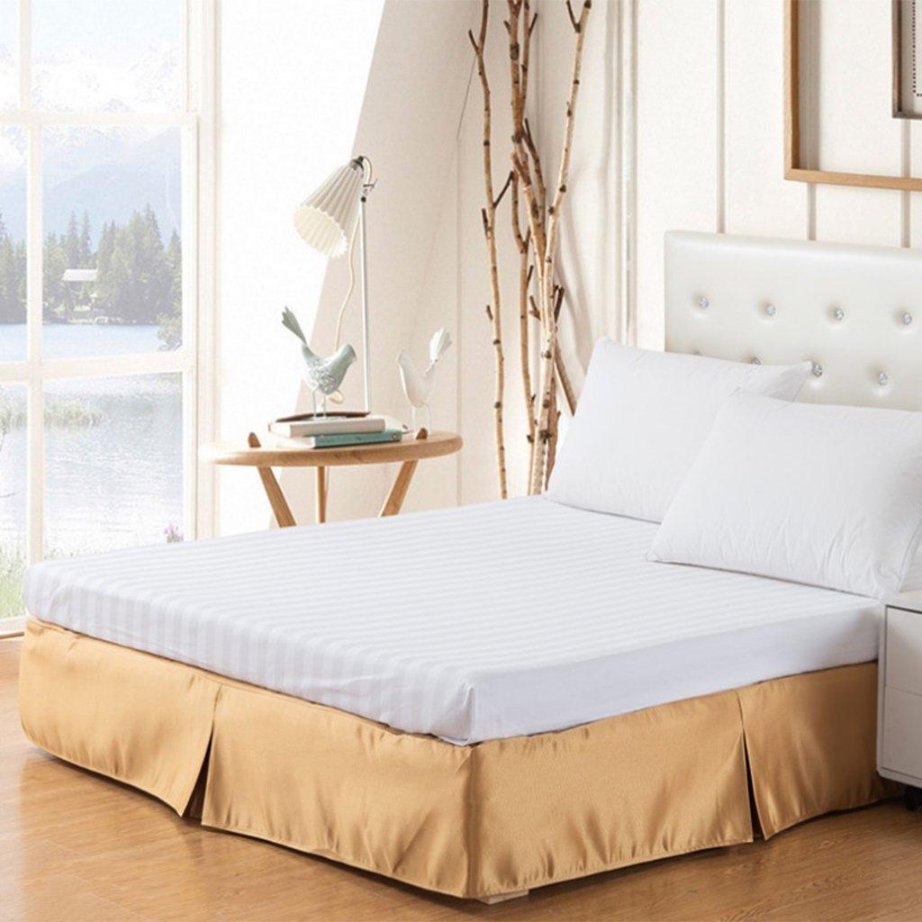 SunniMix Weiche Bettvolant Betthusse Bettverkleidung Bedskirt 120 150 180 X 200 cm F/ür Haus Hotel Betten 150x200 25cm
