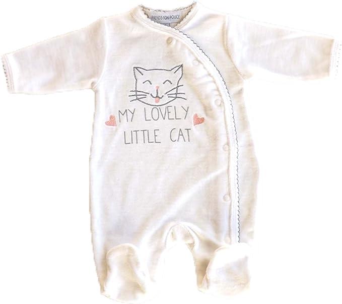 Blanco Pelele terciopelo para bebe