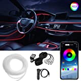 Car LED Strip Lights, LEDCARE Multicolor RGB Car Interior Lights, 16 Million Colors 5 in 1 with 236 inches Fiber Optic, Ambie