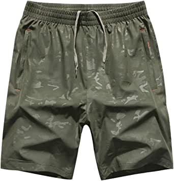 LuckYoung Men's Swim Trunks Camouflage Quick Dry Cool Beach Board Shorts with Zip Pockets Bathing Suits