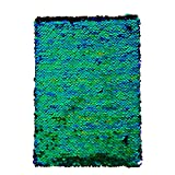 Office Products : Magic Sequin! Reversible Sequin Iridescent to Black Mermaid Journal