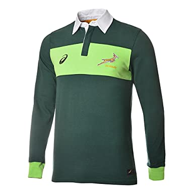 Springboks LONG SLEEVE RUGBY SHIRT BOTTLE GREEN 14/15 South Africa ...