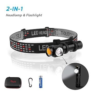 d1b9de9d8adb Megulla lampe frontale LED Lampe de poche avec étui pour la course à pied,  la