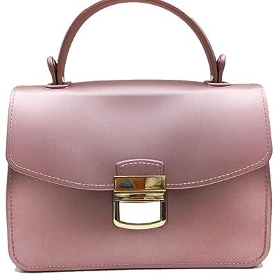 Amazon.com: amyhui pequeño asa superior bolsos Jelly bolsas ...