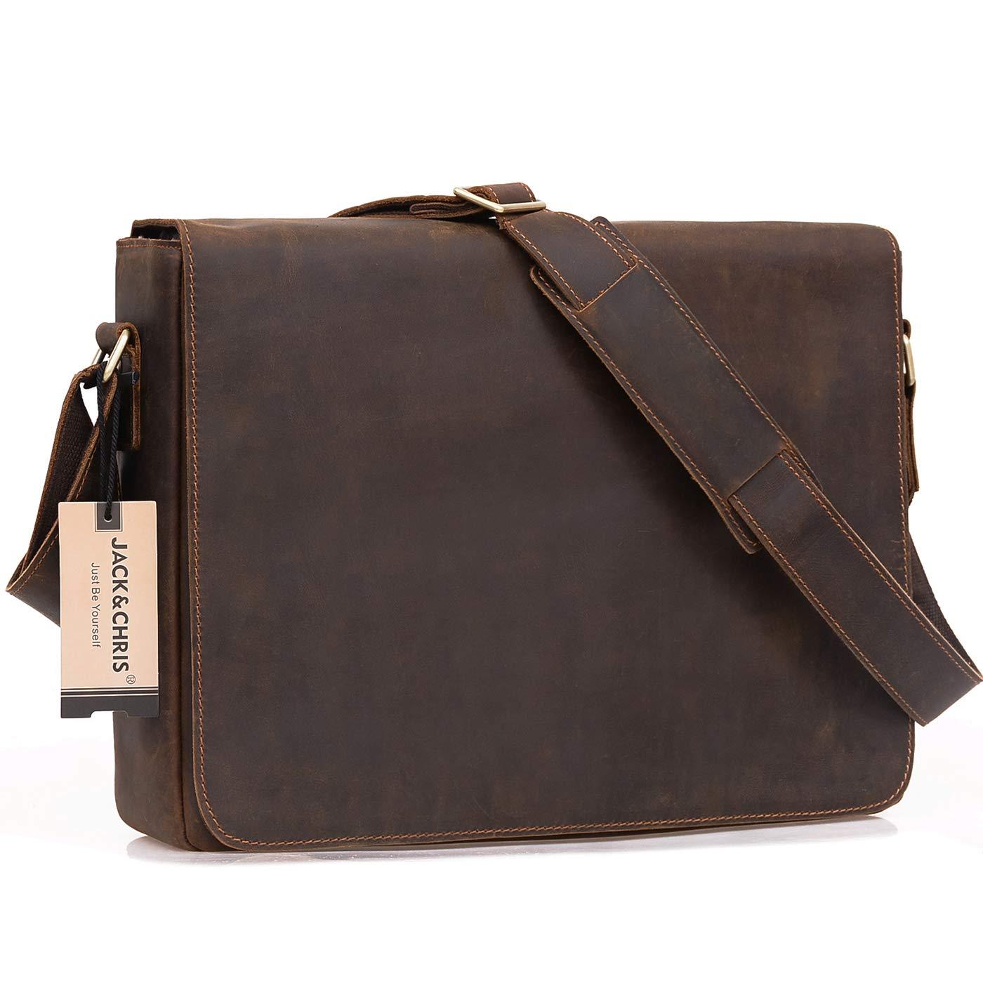 ef097129628e Amazon.com  Jack Chris Leather Men s Laptop Bag Messenger Shoulder ...