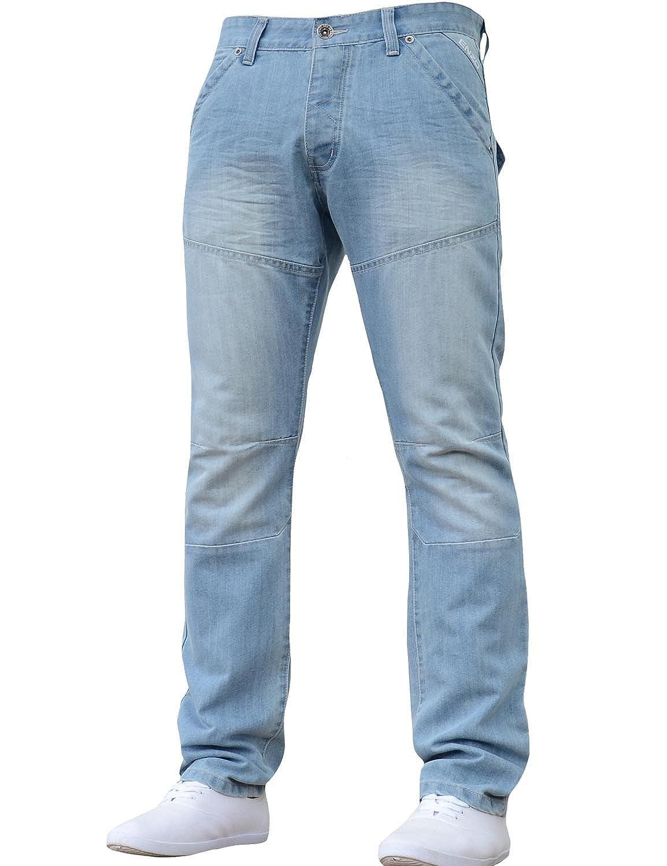 Clothes, Shoes & Accessories Open-Minded Mens Blue Denim Jeans Tight Leg Denim Co 34 Waist 33 Leg Button Fly