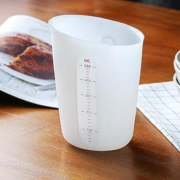 250//500ml Küche Backen Silikon Messbecher Mit Skala DIY Kuchen Backen Werkzeuge