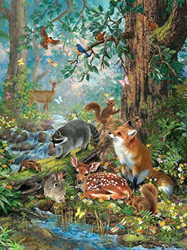 Out Jigsaw Puzzle 100 Pc (Out in the Forest 1000 Piece Jigsaw Puzzle by SunsOut)