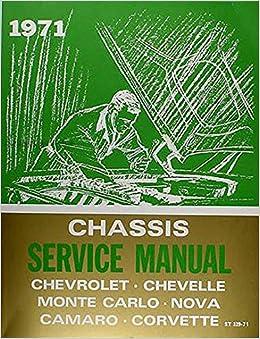 Nova CHEVROLET 1971 Camaro Monte Carlo /& El Camino Shop Manual CD Chevelle