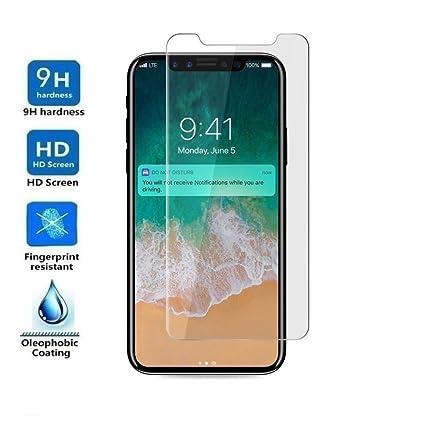 14028efc576 Protector de Pantalla para IPHONE X, Cristal Vidrio Templado Premium,  Electrónica Rey®