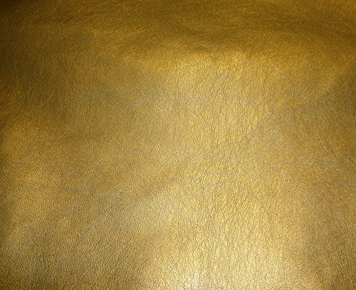 (luvfabrics Vinyl Faux Leather Gold Metallic Ford Upholstery Car Sofa Faux Leather Vinyl Fabric Per Yard 54