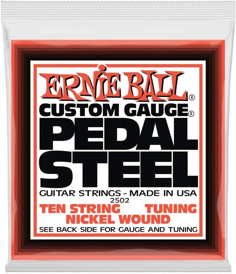 Ernie Ball Pedal Steel 10 cuerdas E9 Tuning Nickel Wound Guitarras eléctricas - 13-38 Gauge
