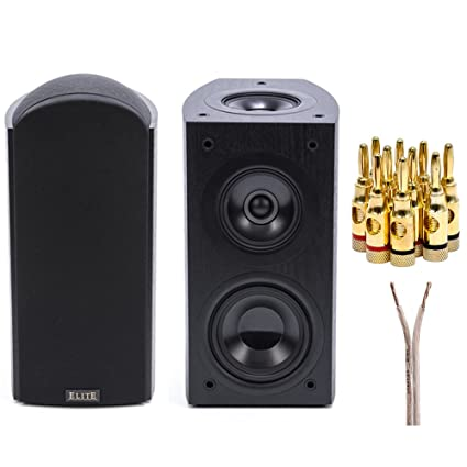 Pioneer Elite Dolby Atmos Enabled Andrew Jones Bookshelf Speakers Pair SPEBS73LR With Brass Speaker