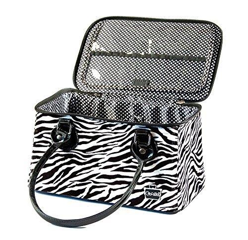 Caboodles Heartthrob It Bag Travel Case (Zebra Print)