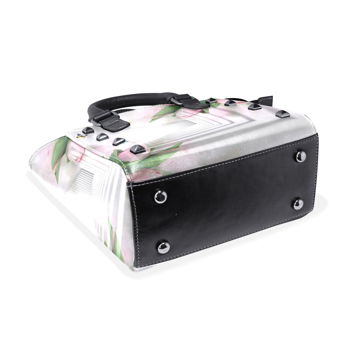 Jennifer 3D Tulip Corridor PU Leather Top-Handle Handbags Single-Shoulder Tote Crossbody Bag Messenger Bags For Women