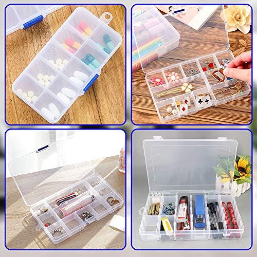 HAKACC Fächer Aufbewahrungsbox, 6 Stück Plastik Sortimentskasten Aufbewahrungsbox Sortierboxen für Kleinteile Schmuck Bügelperlen