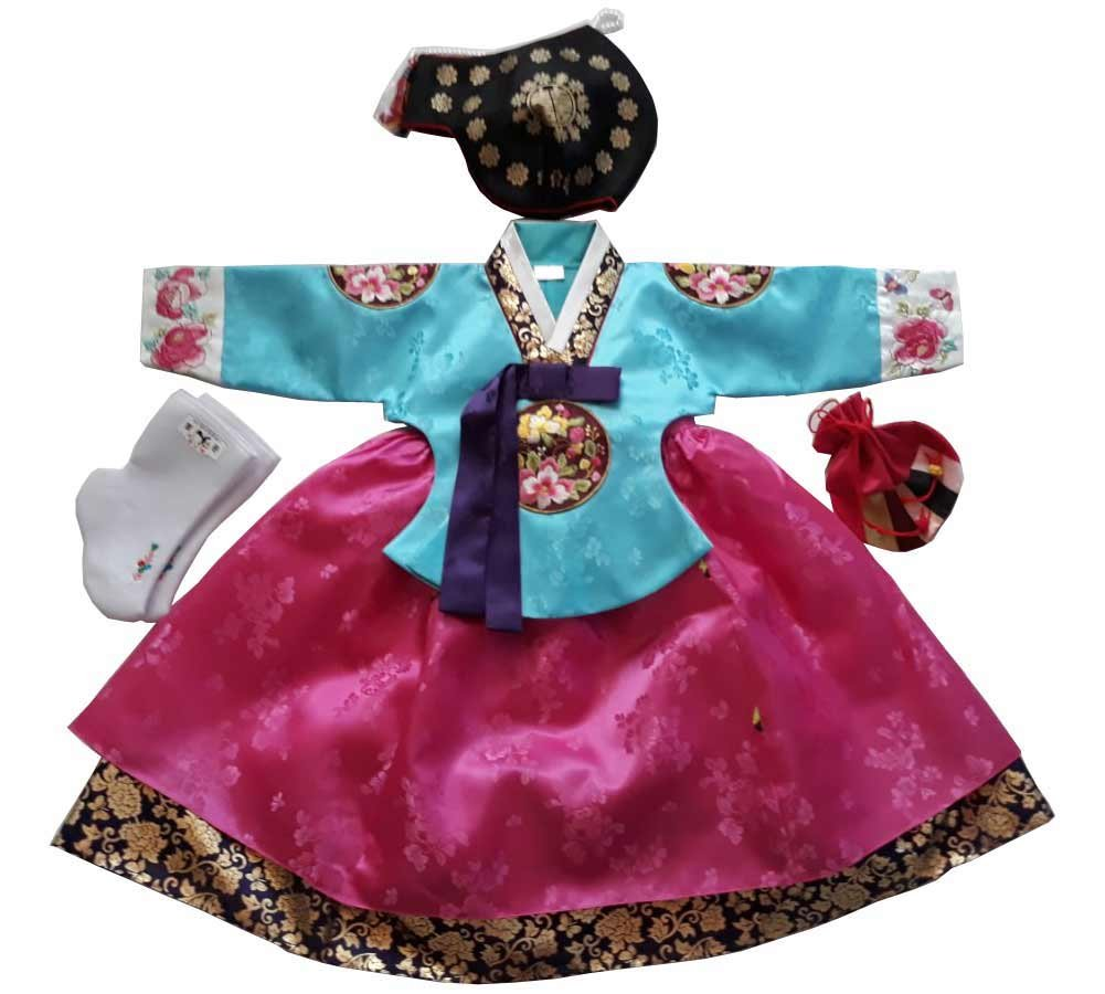 Hanbok Korean Traditional Hanboks Babies Girls Dress Costumes 1st Birthday DOLBOK Party Gift hg300/1