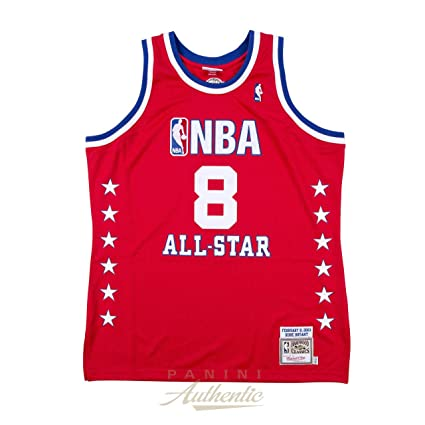 82ed9b9c8 Amazon.com  KOBE BRYANT Autographed Lakers Authentic 2003 Western  Conference All Star Jersey PANINI  Sports Collectibles