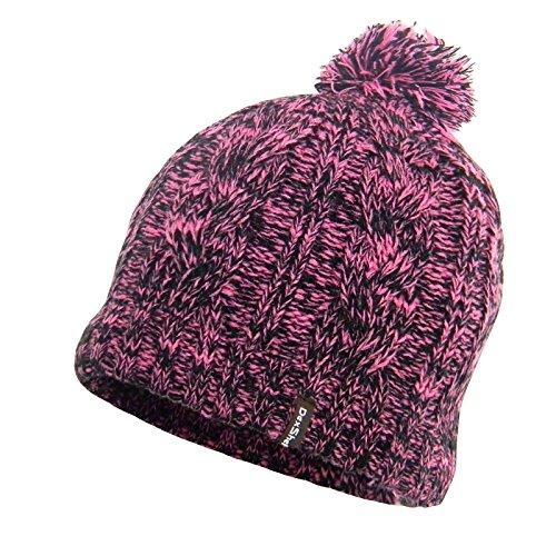 DexShell Waterproof Cable Knit Pompom Beanie Pink