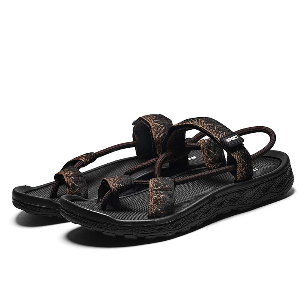 Sandals For Flat Feet Men Comfort Casual Fashion Light Weight Clip Toe National Style Beach Shoes Us 8 Brown Cjp Org In