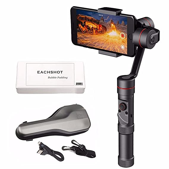 """Zhiyun Smooth III Smooth3 3 Axis Handheld Gimbal Stabilizer for Smartphone like iPhone X 8 plus 7+ 7 6+ 6 5S, Samsung Galaxy S8 S8+ S7+ S7 S6 S5 Note8 Note 8 ect, Max 6"""" 260g Payload Zhiyun Smooth-III"""