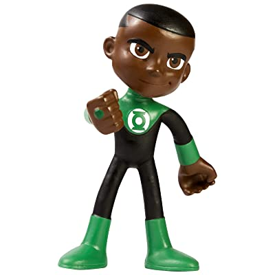 NJ Croce John Stewart Green Lantern Action Bendable Figure: Toys & Games