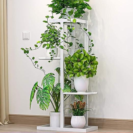 Puesto de plantas Autoportante puesto de flores, hierro forjado ...
