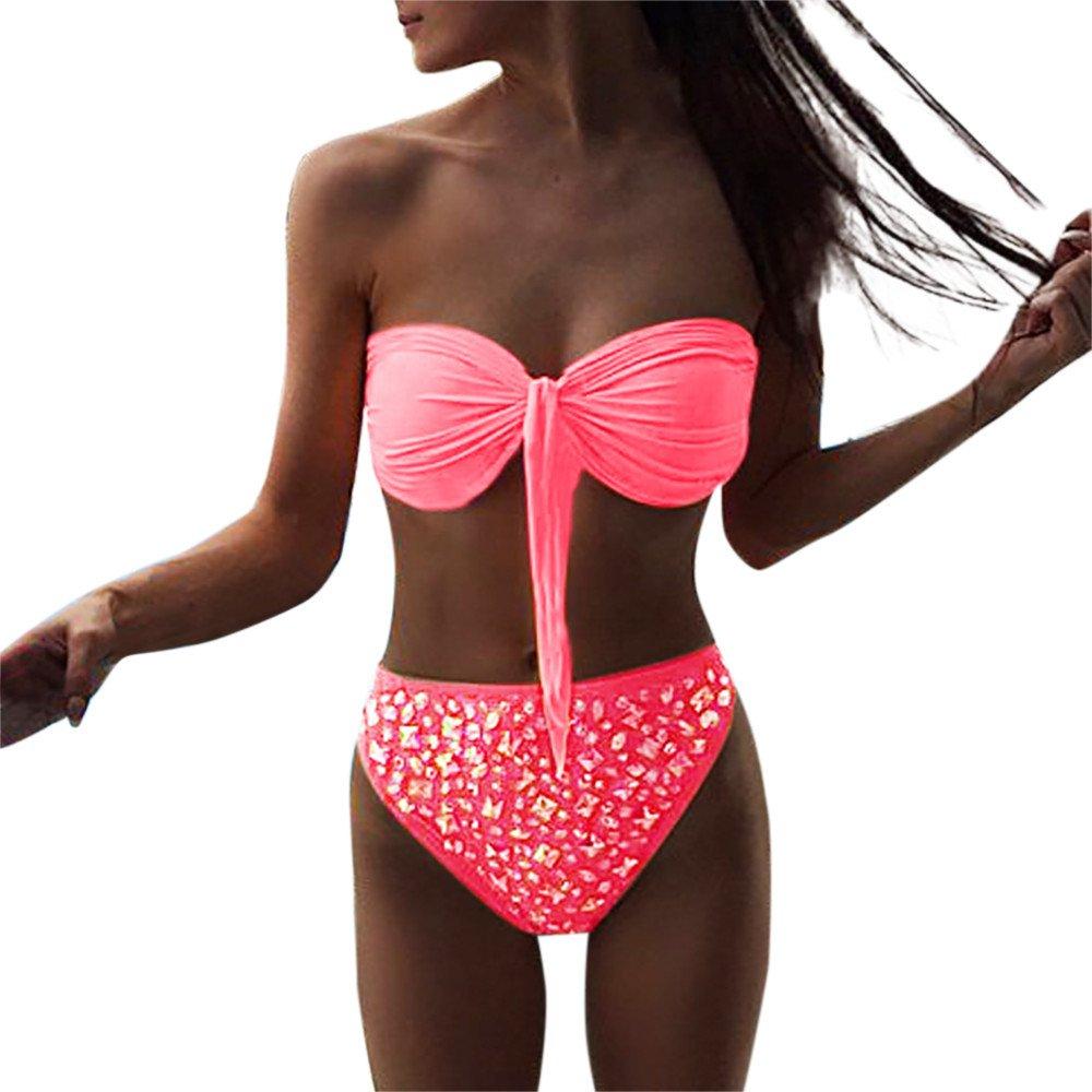 HUIHUI Badeanzug Damen 2019 Bikini Set Push up Tankinis große größen Ulla popken bademode Frauen Retro Monokini bauchweg Swimsuit