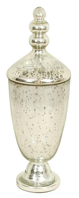 Amazon Vase With Lid 16 Inch Height X 6 Inch Width Mercury