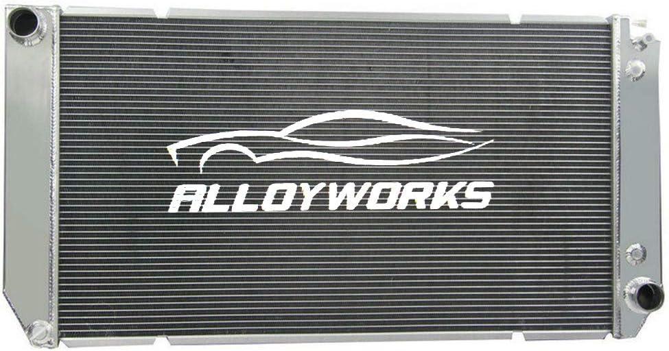 ALLOYWORKS 3 Row All Aluminum Radiator For 1994-2002 Chevy C/K 1500/2500/3500 / GMC V8 6.5L AT/MT