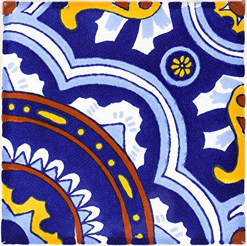 Tierra y Fuego Box of 9-4¼ x 4¼ Royal - Terra Nova Mediterraneo Ceramic Tile
