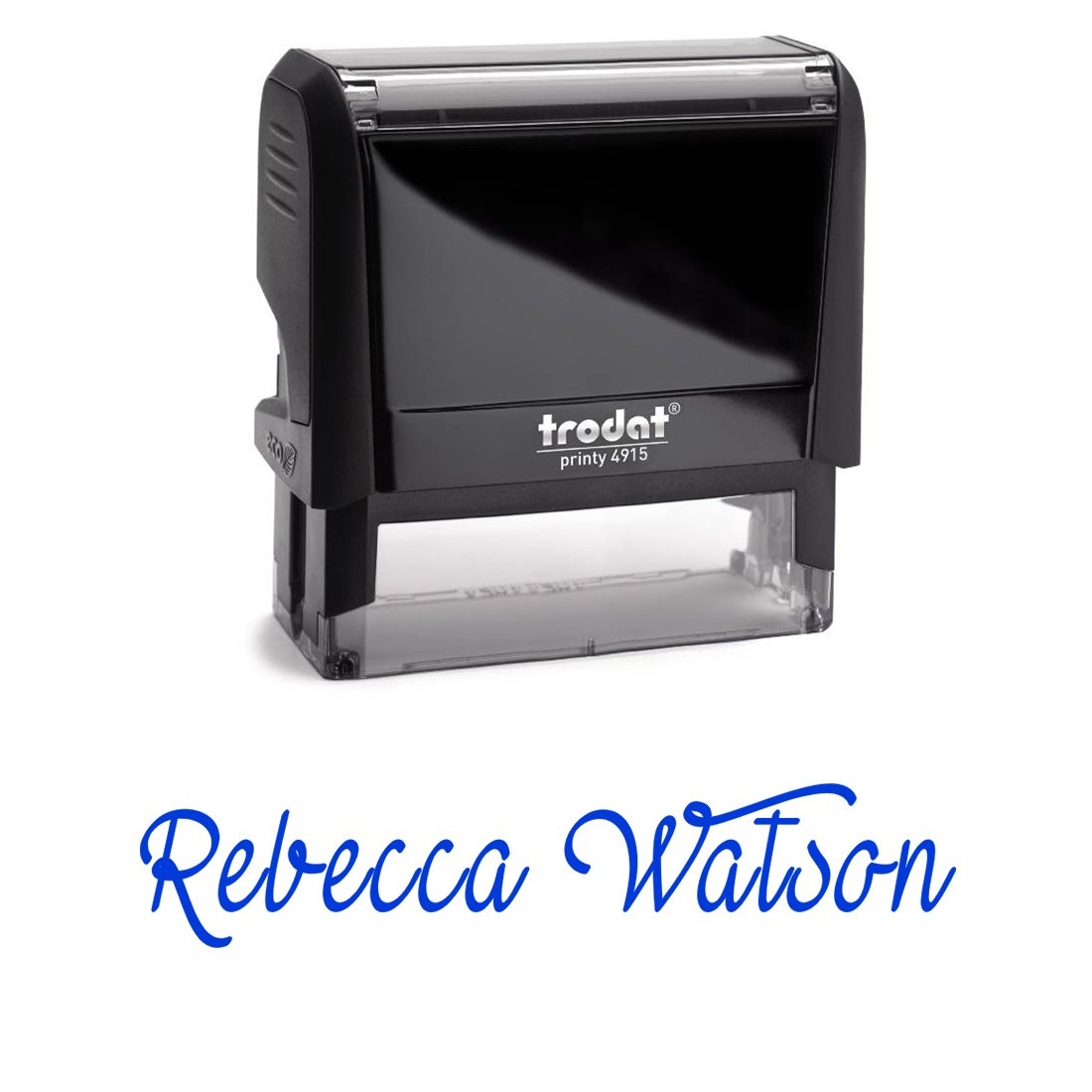 Personalized Custom Signature Stamp. Great Labelling Self Inking Stamp With Unique Font. Perfect For Bank Deposits, Registered Nurses, Home, Office Or School Blue Ink, Self Inking Stamp