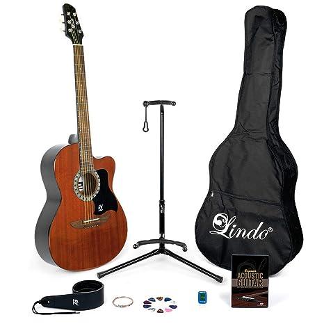 Lindo aprendiz de guitarra acústica de caoba (931 C/WA) y completo ...