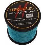 Hercules PE Dyneema Superline geflochtene Angelschnur 1000m 10lb-300lb, 8-fach