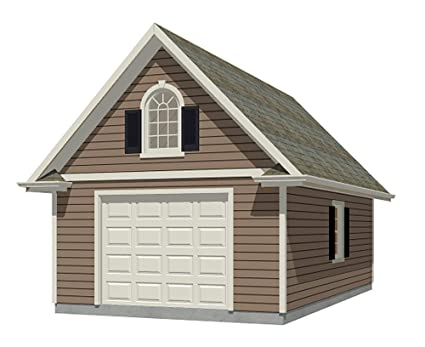 Amazon Com Garage Plans 1 Car 384 3 16 X 24 One Car By
