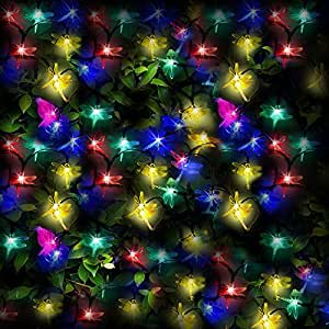 100 Multicolor LED Solares Guirnaldas Luminosas forma de ... - photo#5