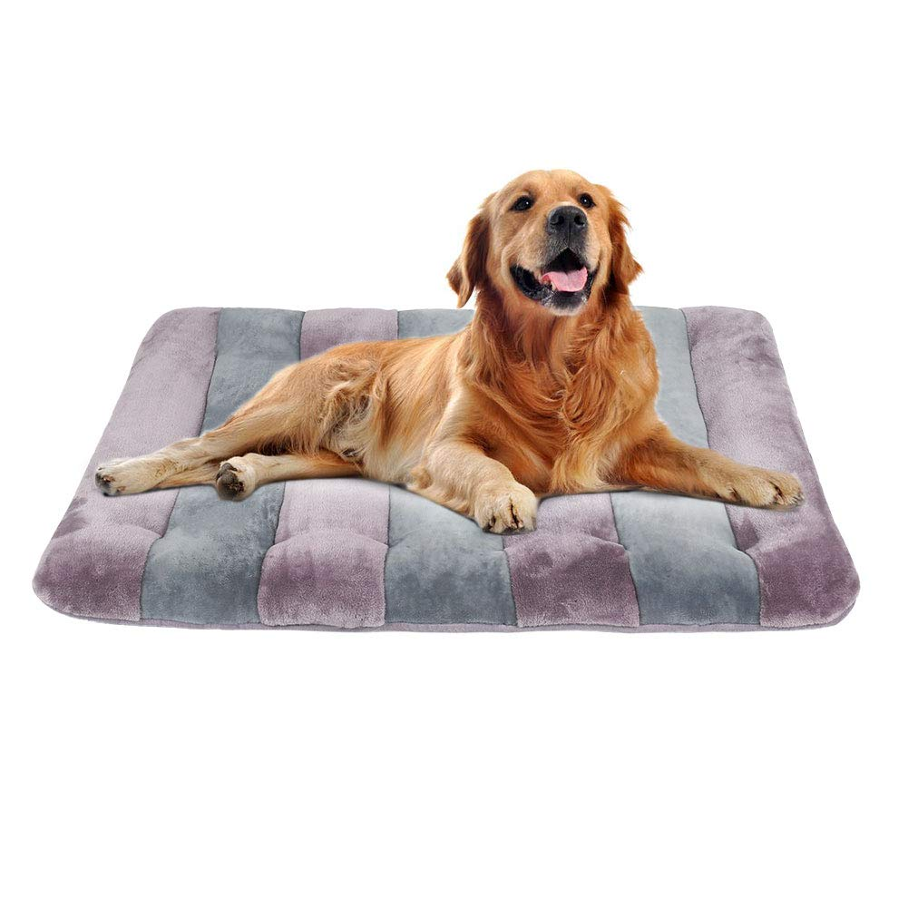 JoicyCo Large Dog Bed 42 Crate Pad Mat 100% Washable Anti-Slip Dog Matress Kennel Pads