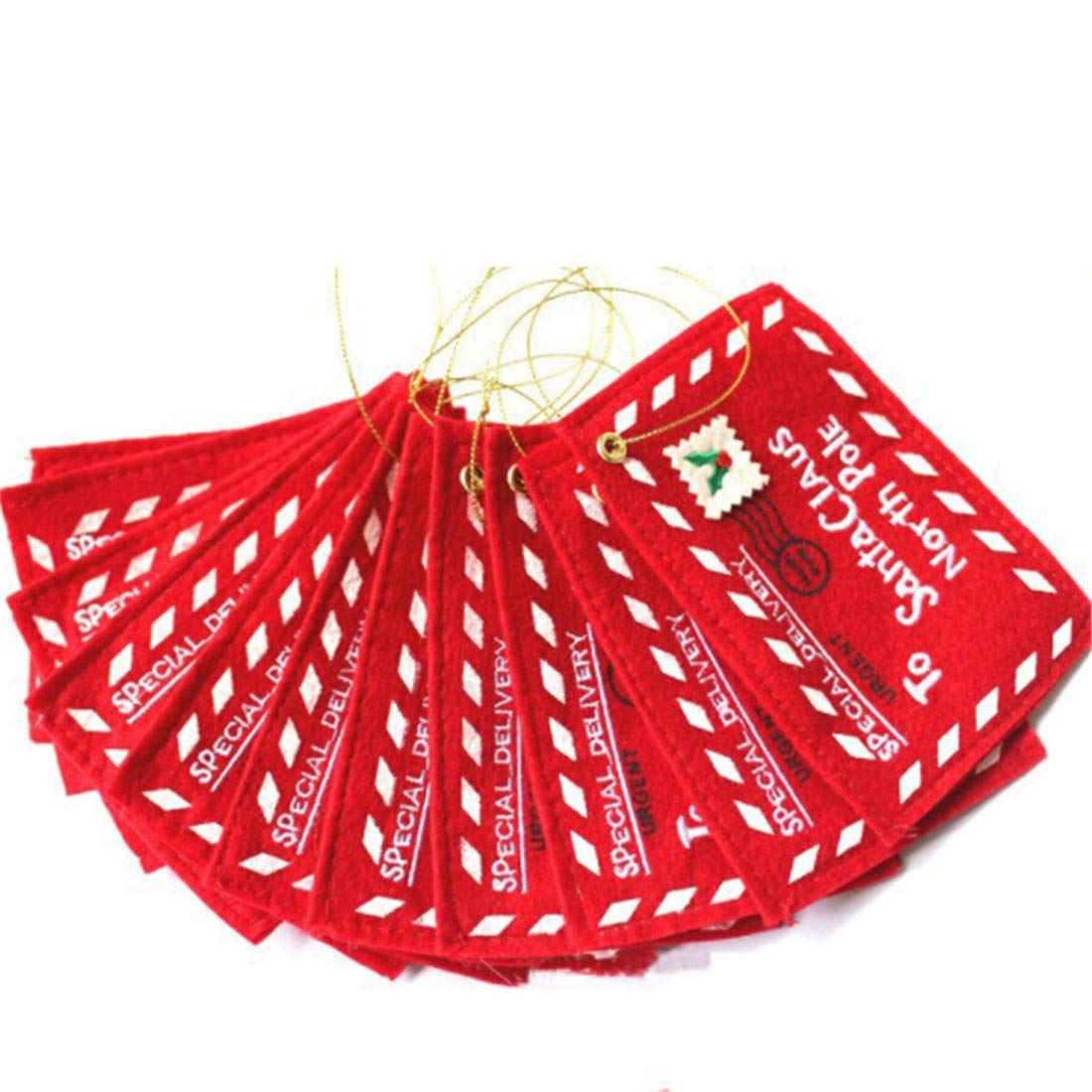 VWH Christmas Envelope Candy Gift Bag Tree Ornament Pendant Accessories Home Party Decor (red)