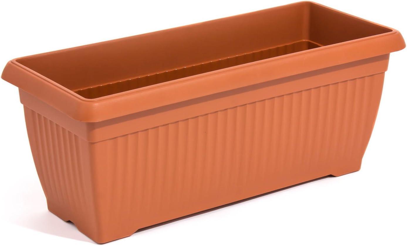80cm color terracota tamaño grande caja de balcón de plástico, disponible en 2colores y 3tamaños