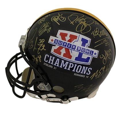 298518bb1b1 Pittsburgh Steelers Super Bowl XL Signed Proline Helmet 27 Sigs Bettis BAS