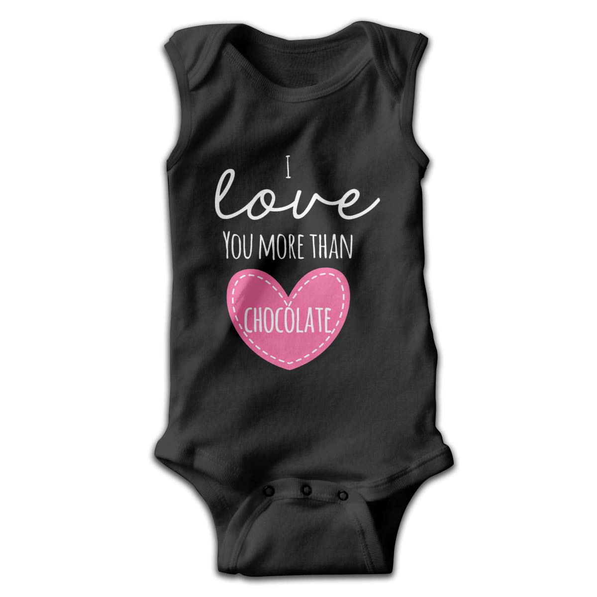 Infant Baby Girls Rompers Sleeveless Cotton Jumpsuit,I Love You More Than Chocolate Bodysuit Summer Pajamas