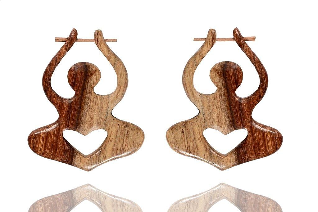 Ethnic Handmade Wood Boho Wooden Stick Earring Combo41