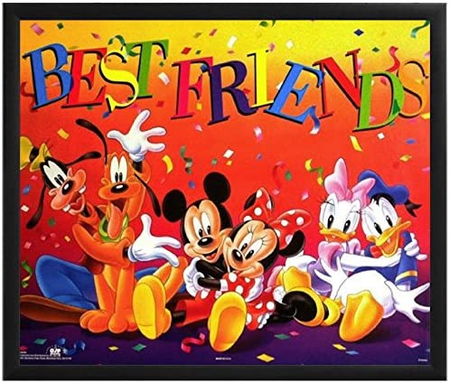Mickey and Friends Disney Canvas Movie Poster Print Art Minnie Mouse Daffy Duck