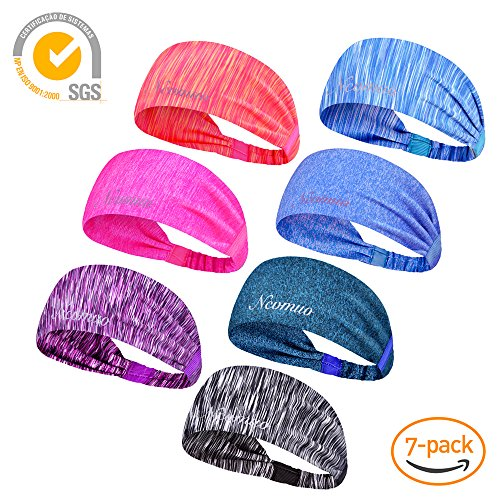 NCVMUO Sport Headband,Athletic Headband,Yoga Headbands, Sport Fitness Sweatband GYM NON Slip Wicking Stretchy Lightweight Crossfit Workout Running Cycling Hiking Facial Men Women – DiZiSports Store