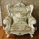 European slipcover sofa,Anti-slip sofa slipcovers sofa covers for leather sofa sofa protector american style four seasons cloth solid wood sofa towel-yellow 80x120cm(31x47inch)