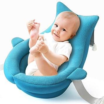 Whale Baby Bath Support Coj/ín de regalo para ducha infantil Ba/ñera Reci/én nacido Baby Nursery Pillow Ballena azul
