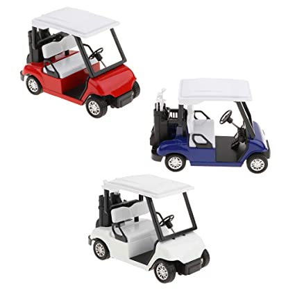 Amazon.com: Flameer 3 Piezas Mini Aleación Carro de Golf ...