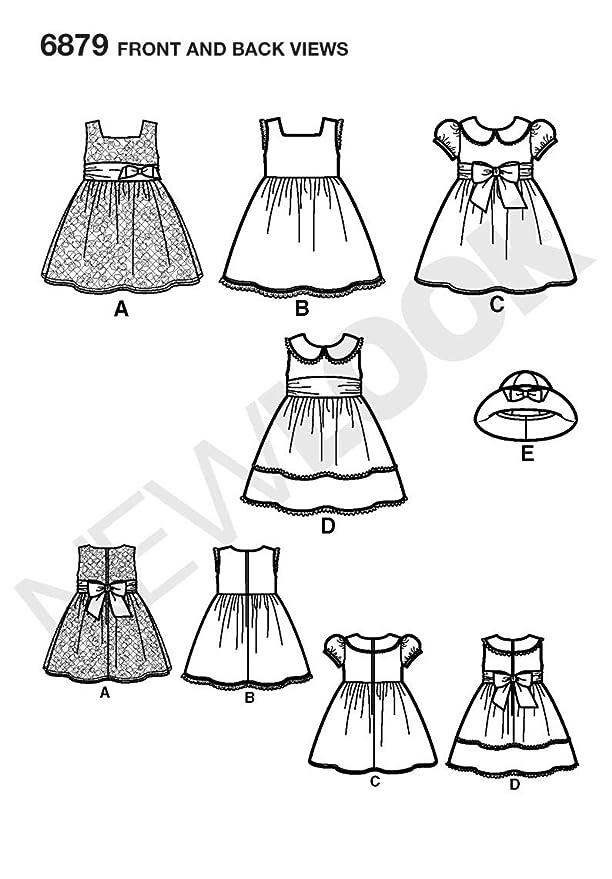 New Look infantil de vestidos y gorro de patrones de costura para ...
