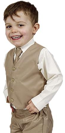 Niños 4 Piezas Traje de Boda Beige